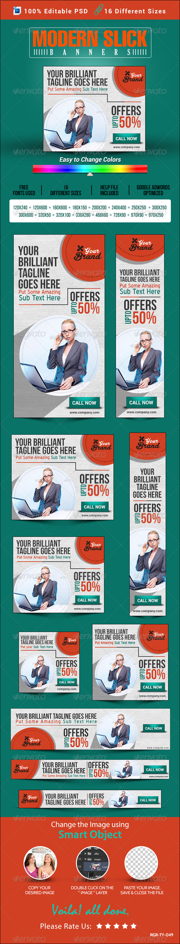 GraphicRiver Modern & Slick Banner Set 8389431