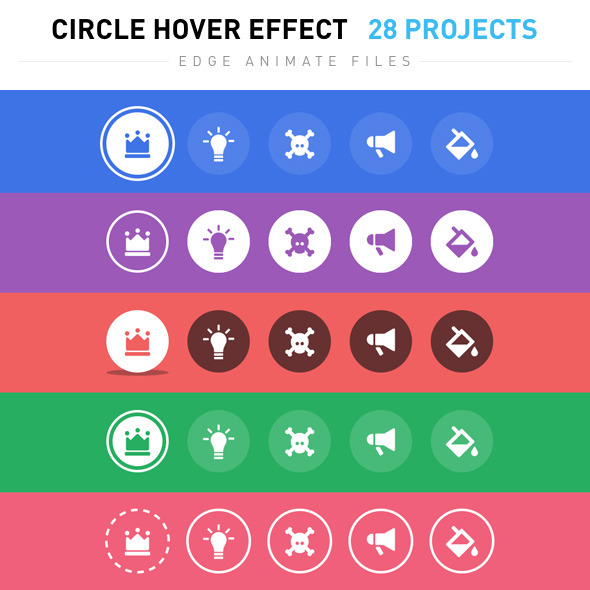 CodeCanyon Circle Hover Effects 8389447