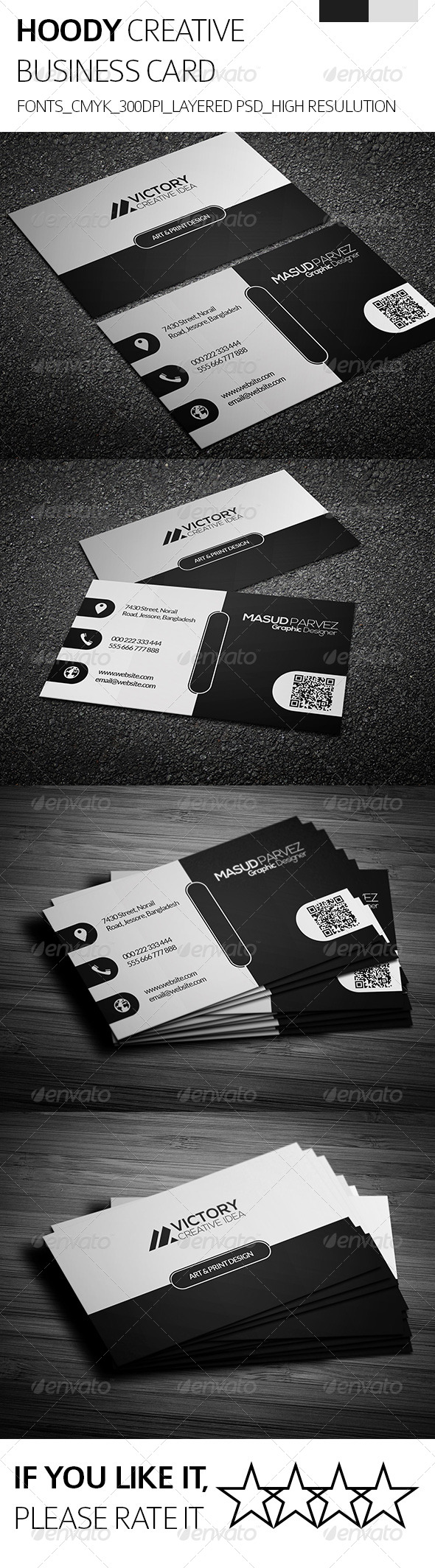 GraphicRiver Hoody & Creative Business Card 8389562