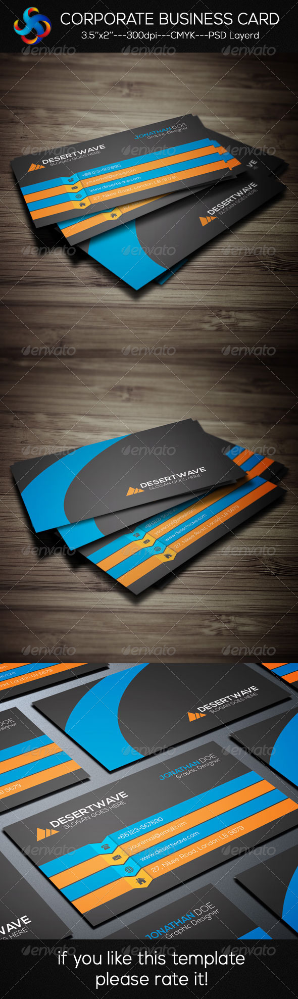 GraphicRiver Creative Corporate Business Card 8389576