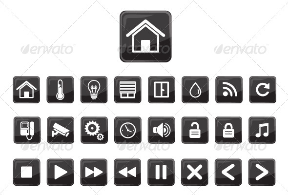 Home Automation Smart Home Icon Set