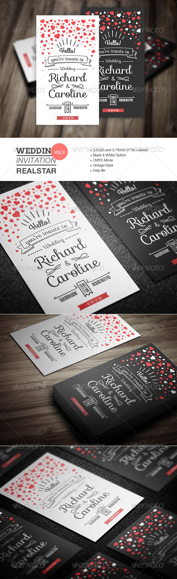 GraphicRiver Wedding Invitation III 8373276