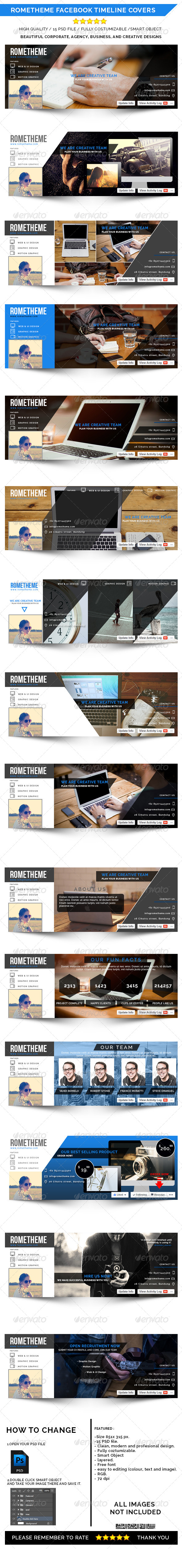 GraphicRiver Rometheme Facebook Timeline Cover 8389621