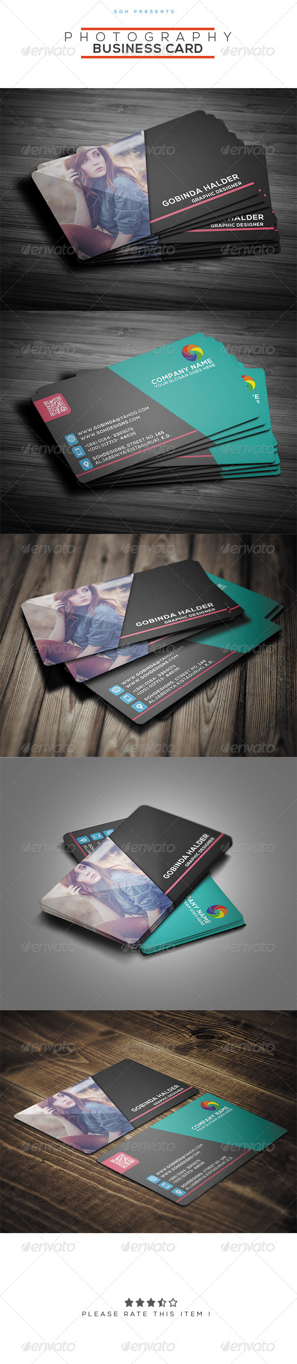 GraphicRiver Photography Business Card Template 8389632