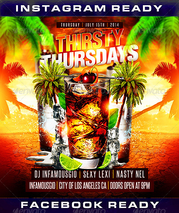 GraphicRiver Thirsty Thursdays 1 8330969