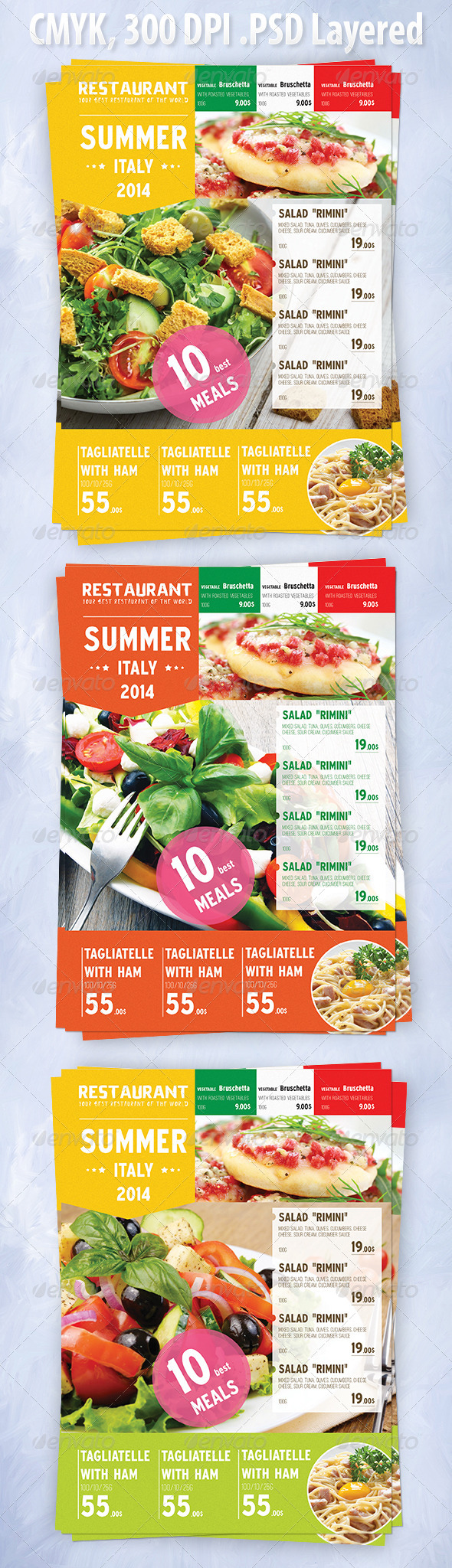 GraphicRiver Summer Italian Menu Template 8389704