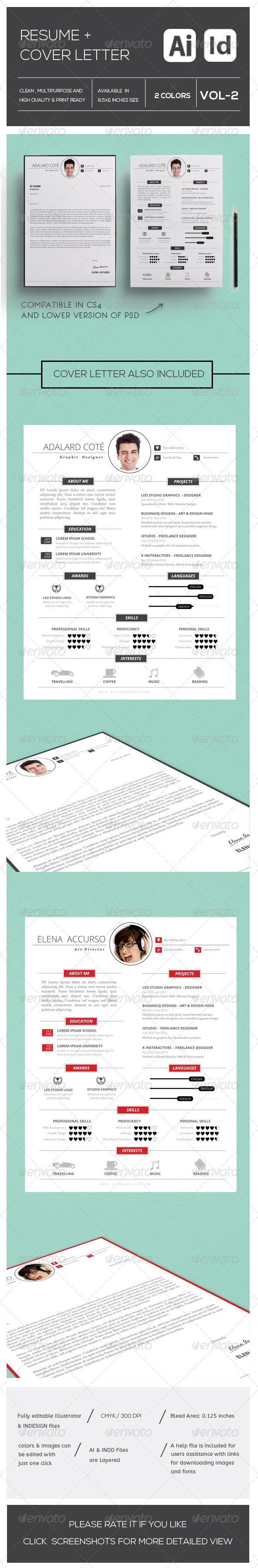 GraphicRiver Simple Resume and Cover Letter Vol-2 8389715