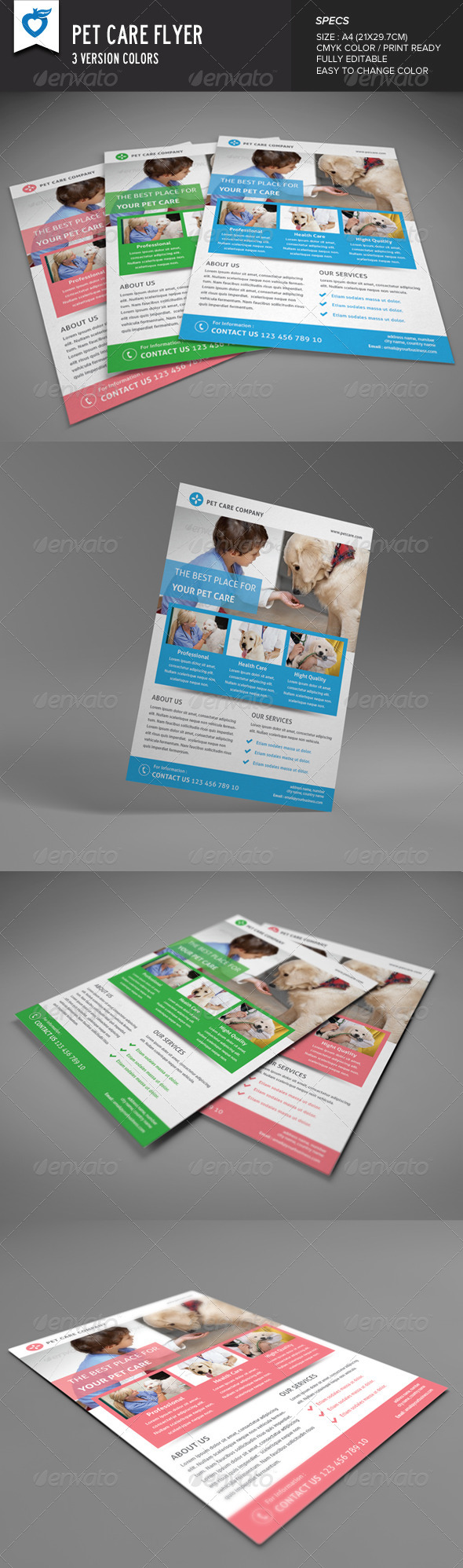 GraphicRiver Pet Care Flyer 8389802