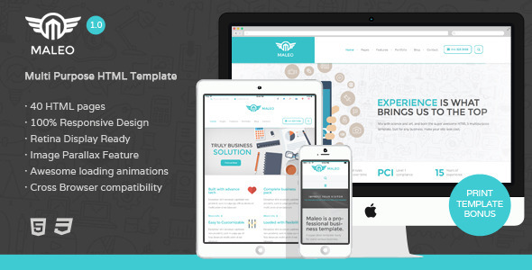 ThemeForest Maleo Multipurpose HTML5 Template 8343696