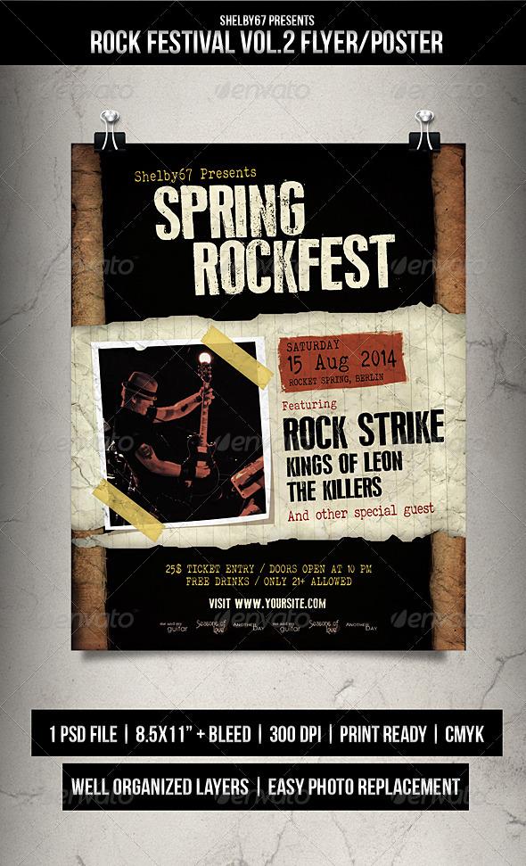 Rock Festival Flyer Poster Vol 2