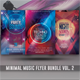 Minimal Music Flyer Bundle Vol. 2 - GraphicRiver Item for Sale