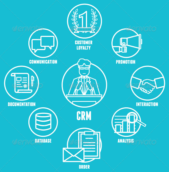 GraphicRiver Concept of Customer Relationship Management 8389975