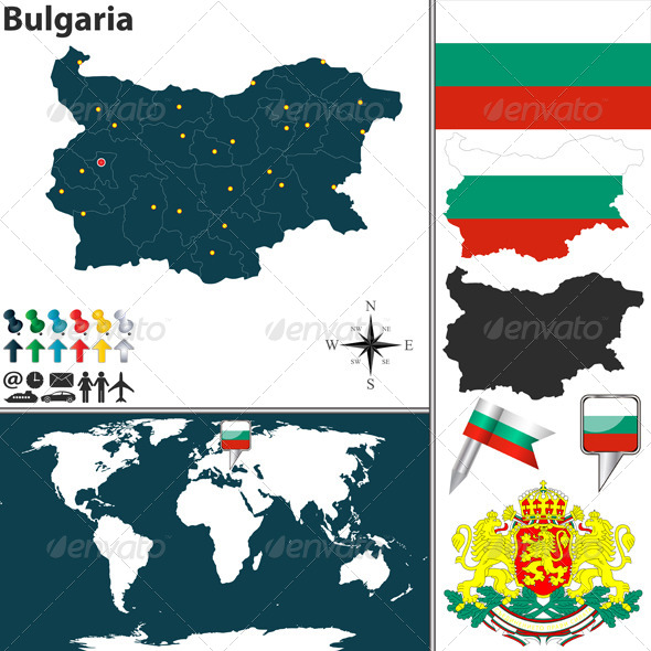 GraphicRiver Map of Bulgaria 8390026