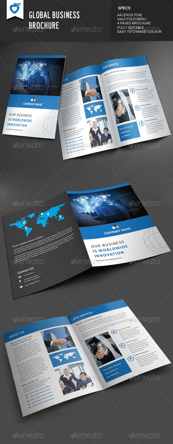 GraphicRiver Global Business Brochure 8390144