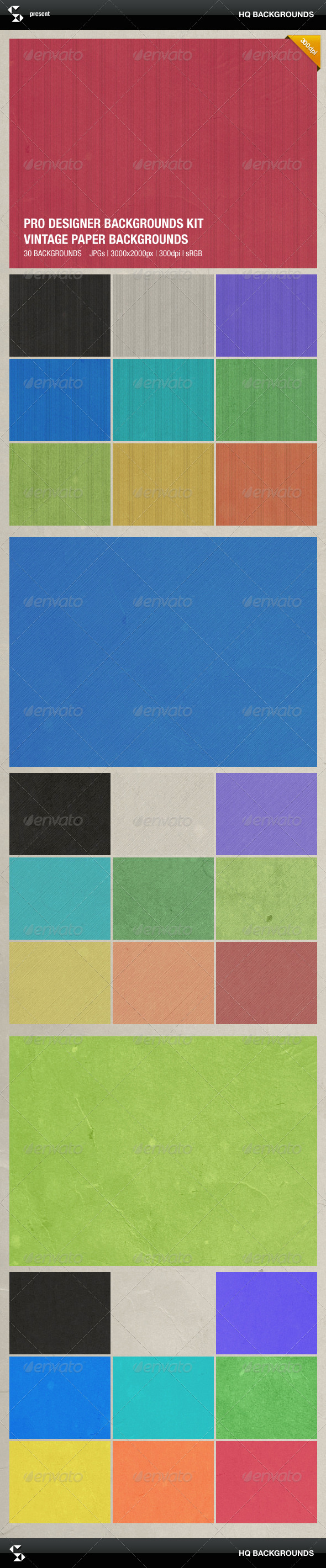 GraphicRiver Vintage Grunge Paper Backgrounds 8390166