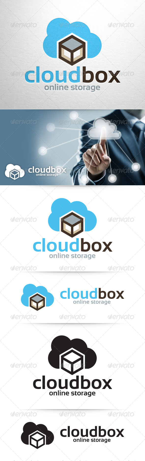 GraphicRiver Cloud Box Logo Template 8390181