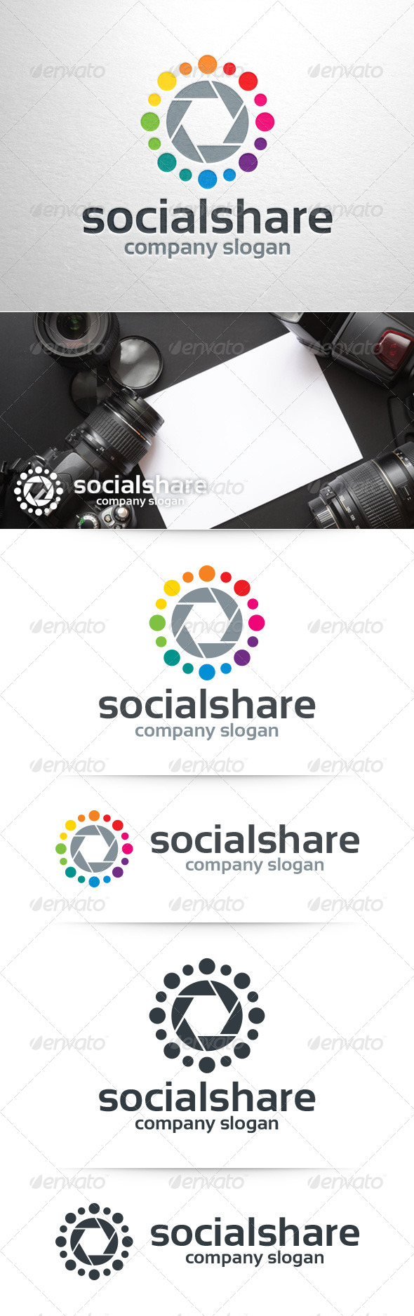GraphicRiver Social Share Logo Template 8390193