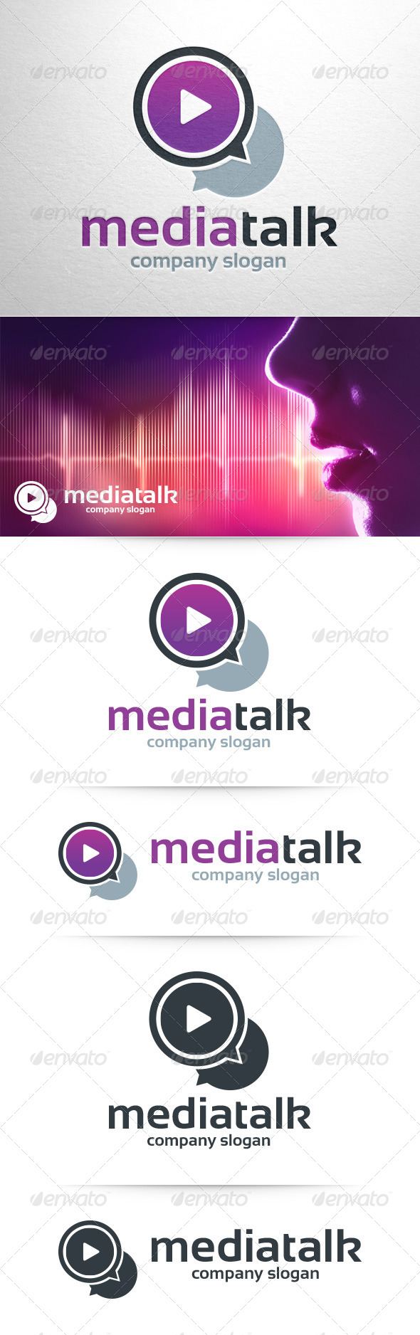 GraphicRiver Media Talk Logo Template 8390203