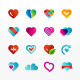 Heart Symbol Icon Set - GraphicRiver Item for Sale
