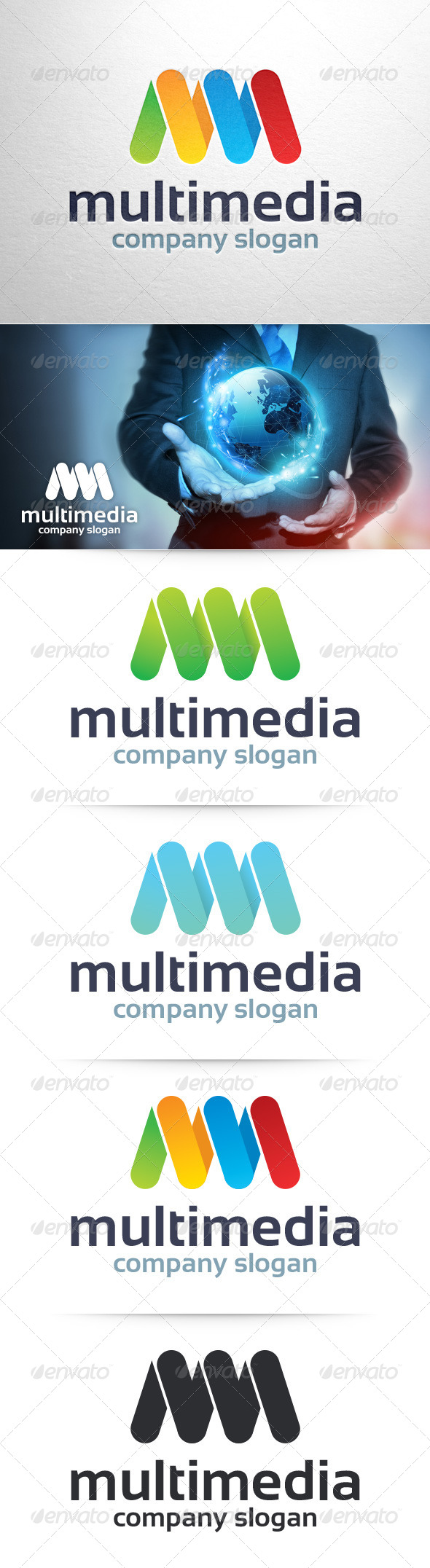 GraphicRiver Multi Media Letter M Logo 8390220