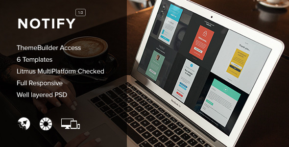 Notify - Notification Email + Themebuilder Access - Newsletters Email Templates