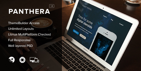 Panthera - Responsive Email + Themebuilder Access - Newsletters Email Templates