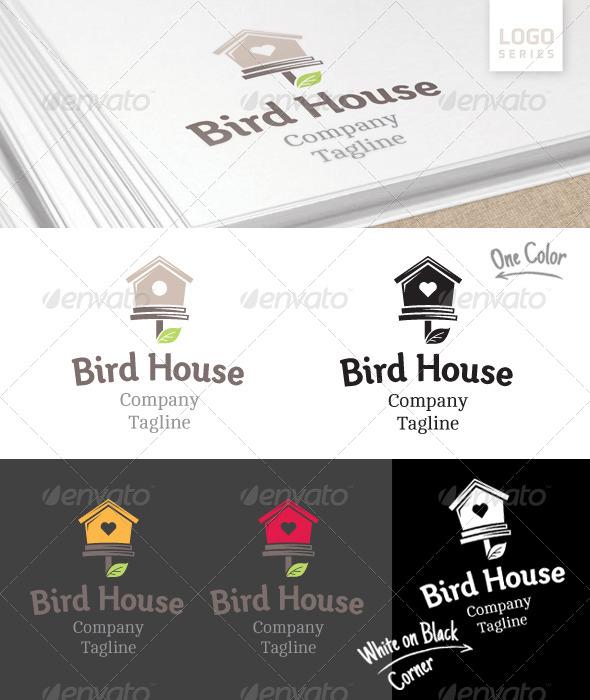 GraphicRiver Bird House Logo 8390498