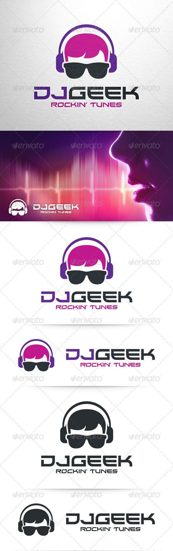 GraphicRiver DJ Geek Logo Template 8390622