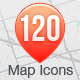 120 Map Icons Collection