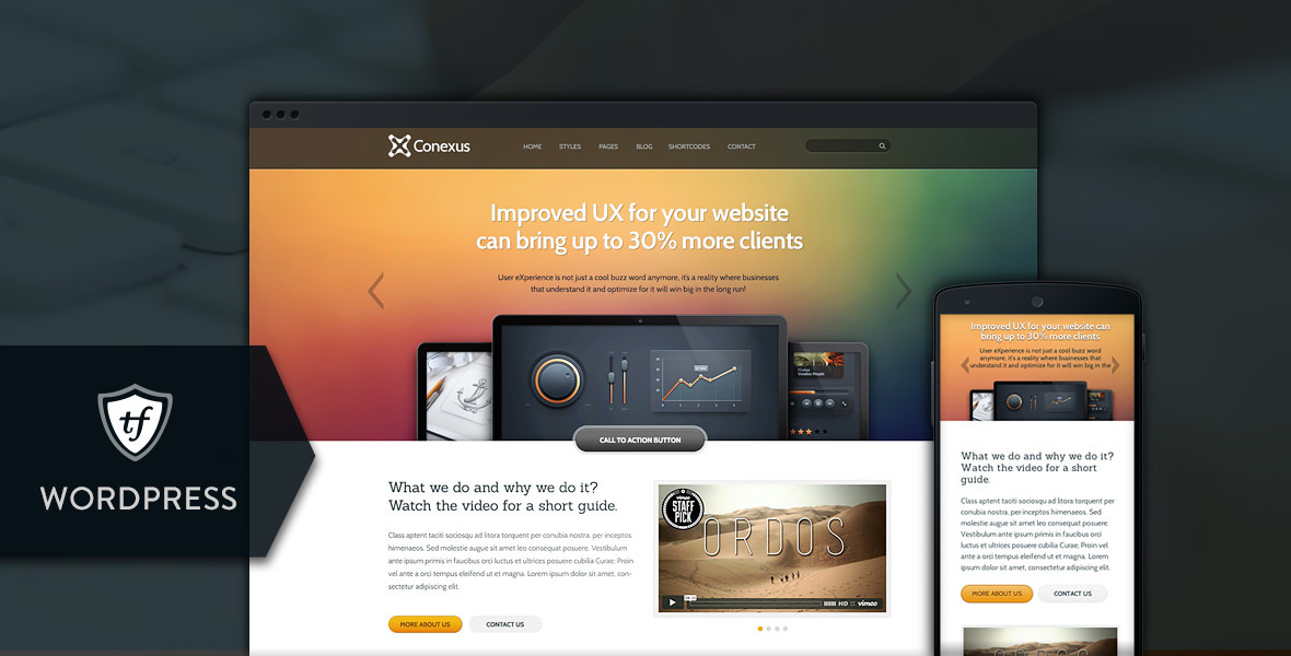 Conexus - Responsive WordPress Theme