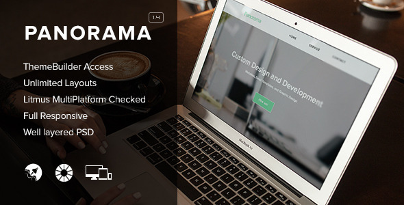 Panorama - Responsive Email + Themebuilder Access - Email Templates Marketing