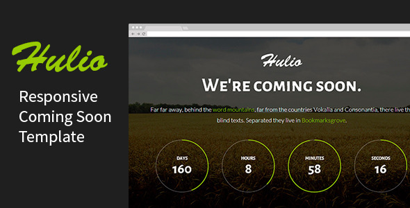 ThemeForest Hulio Responsive Coming Soon Template 8390722