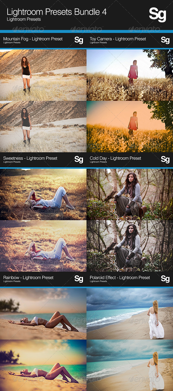 GraphicRiver Lightroom Presets Bundle 4 8390724