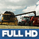 Modern Harvester On The Rape Field 15 - VideoHive Item for Sale