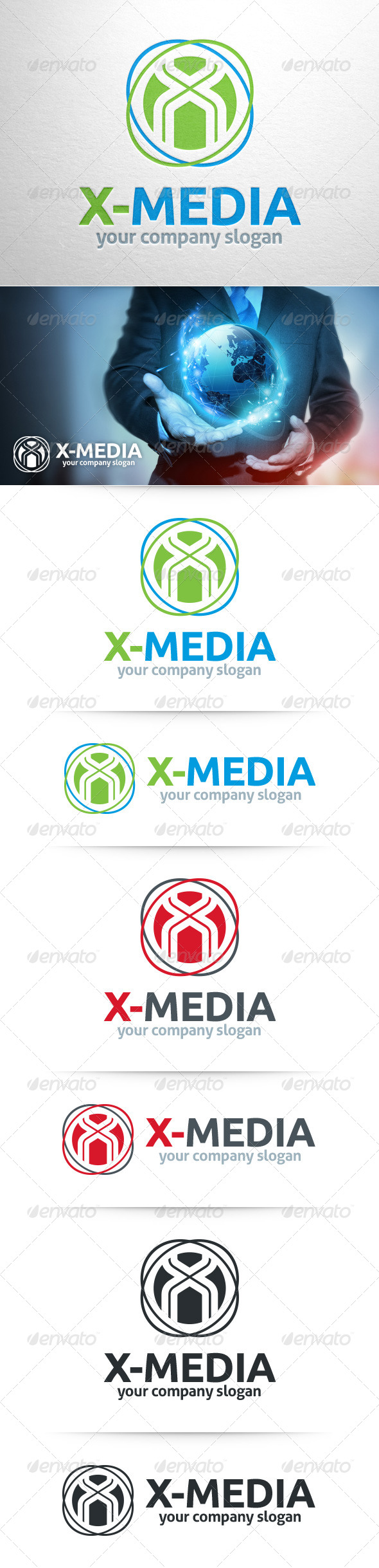 GraphicRiver X-Media Letter X Logo 8390729