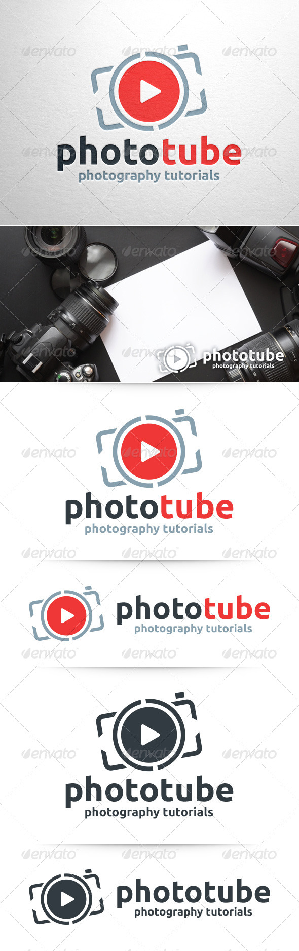 GraphicRiver Photo Tube Logo Template 8390743