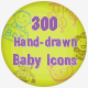 300 Hand Drawn Baby Icons - GraphicRiver Item for Sale