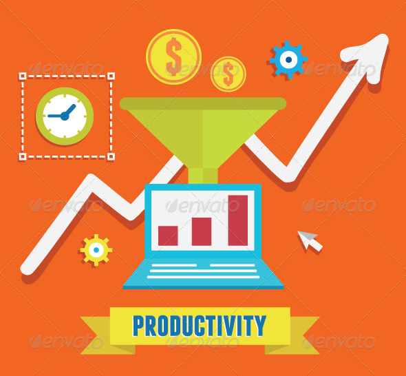 GraphicRiver Concept of Productivity Business and Growth 8390845