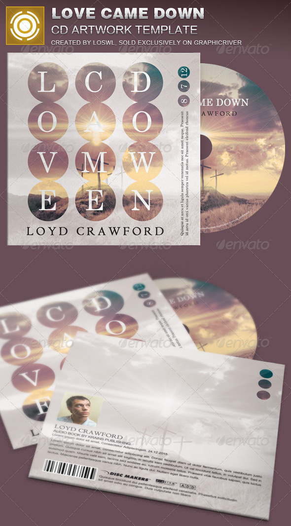 GraphicRiver Love Came Down CD Artwork Template 8390889