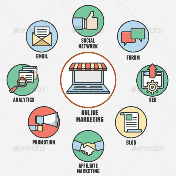 GraphicRiver Concept of Online Marketing 8390894