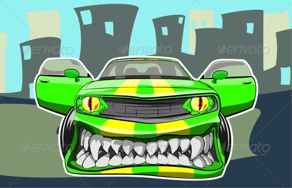 GraphicRiver Angry Car 8390936