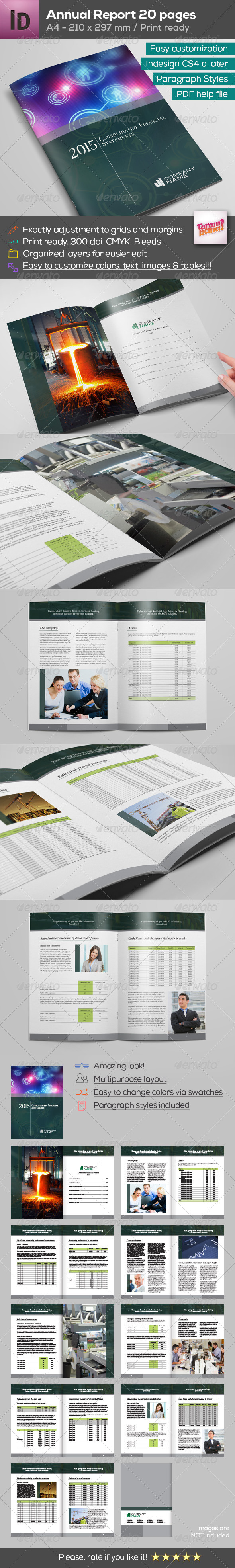 GraphicRiver A4 Annual Report Brochure 20 pages 8390964