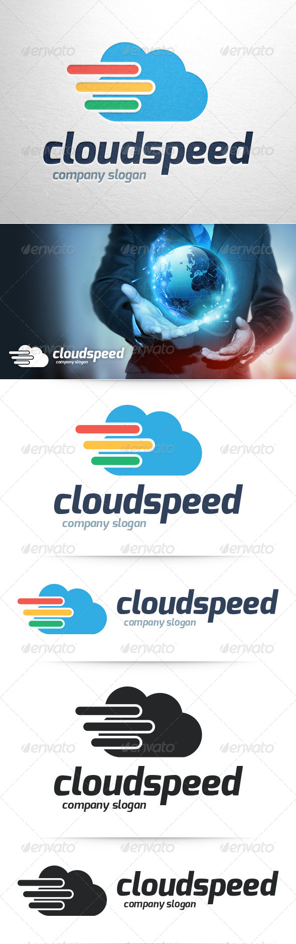 GraphicRiver Cloud Speed Logo Template 8390968