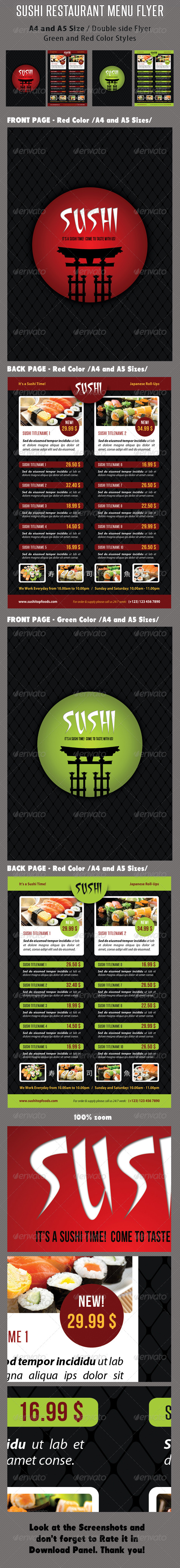 GraphicRiver Sushi Restaurant Menu Flyer V03 8391114