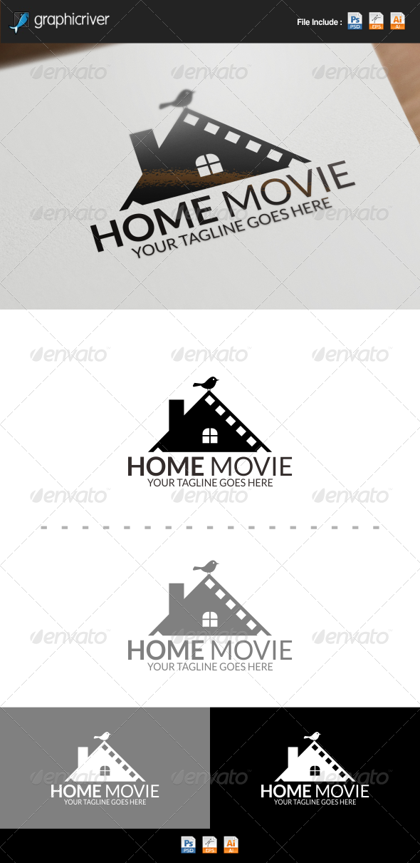 GraphicRiver Home Movie Logo 8391119