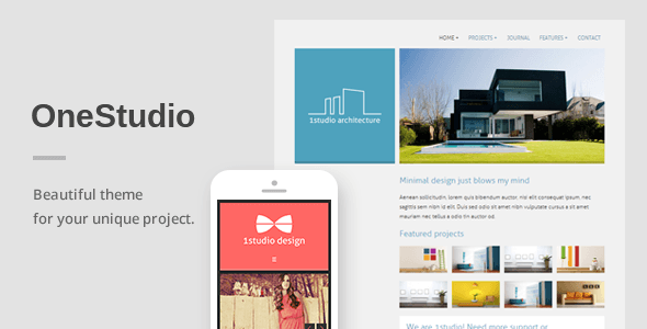 OneStudio - A Unique Responsive WordPress Theme