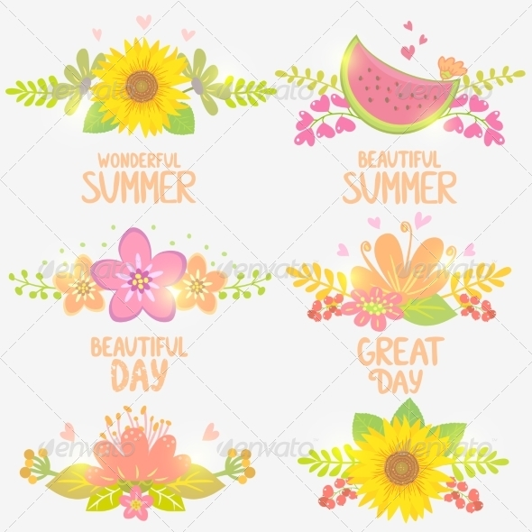 GraphicRiver Floral Design Set 8391210