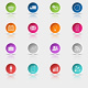 Colored Round Web Buttons Set - GraphicRiver Item for Sale