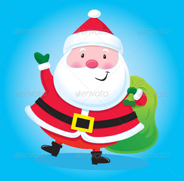 GraphicRiver Santa Claus with Bag of Presents 8391321