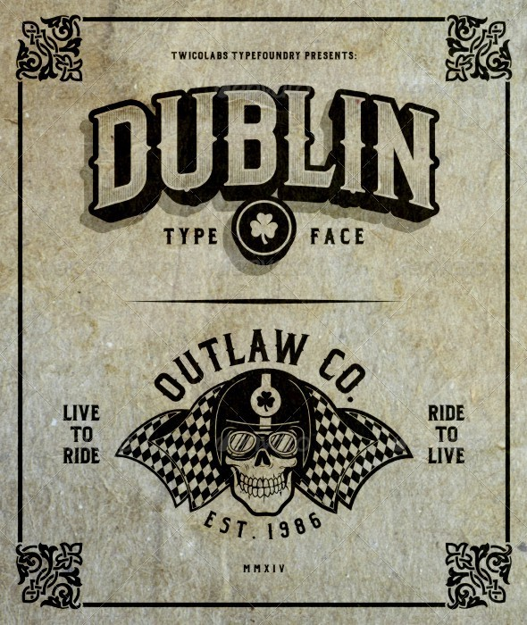 GraphicRiver Dublin Family Typeface 8364491